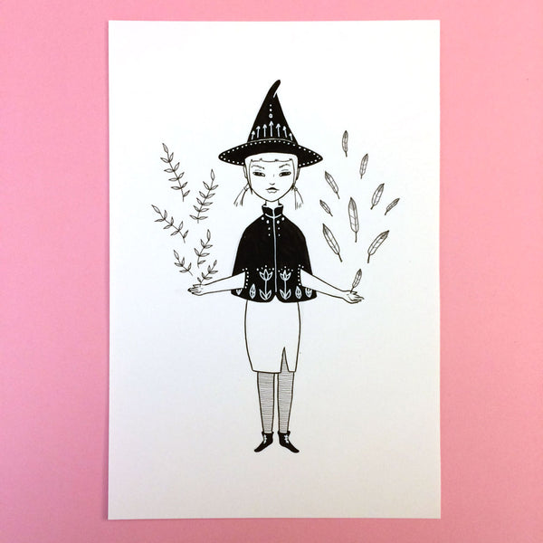 Hedge Witch Original Drawing