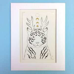 Fantastical Tiger Original Drawing
