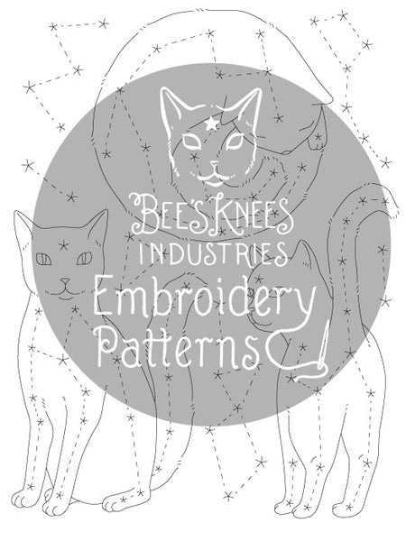 Catstellations Embroidery Patterns