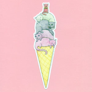 Ice Cream Cats Sticker