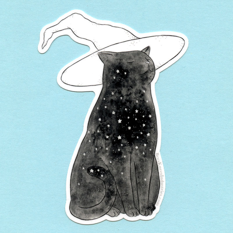 Starry Witchcat Sticker