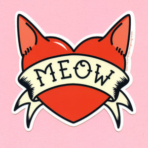 Meow Tattoo Sticker
