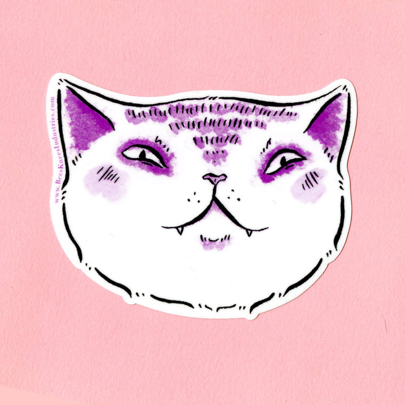 Expressive Smug Cat Sticker