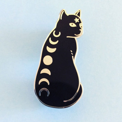 ♥ PREORDER ♥ Moon Phase Cat Enamel Pin