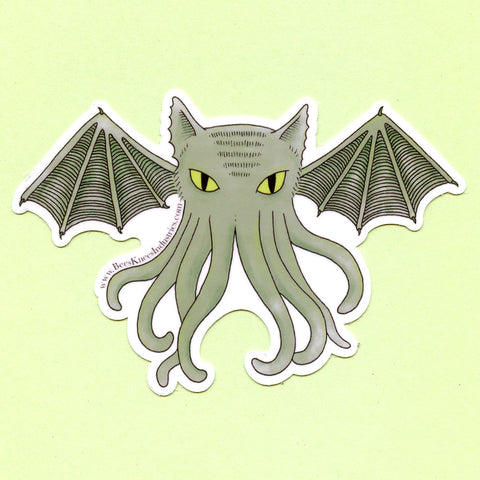 Cat-thulhu Sticker