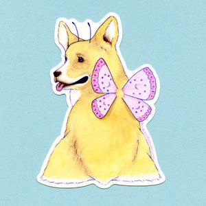 Corgi Faerie Sticker