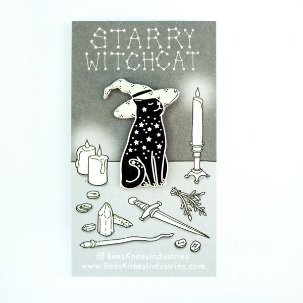 Starry Witchcat Enamel Pin