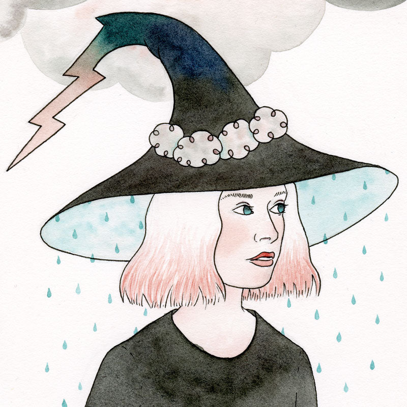 Thunderstorm Witch Original Painting