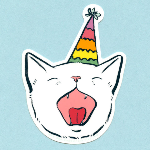 Birthday Cat Sticker