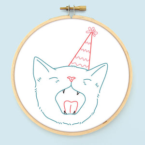 Birthday Cats Embroidery Pattern