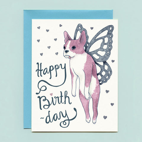 Bossie Faerie Birthday Card