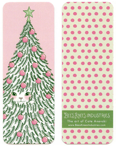 Cat in a Tree Holiday Bookmark