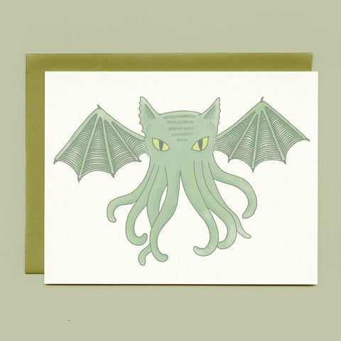 Cat-thulhu Greeting Card