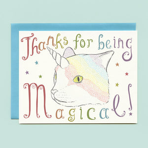 Caticorn Thank You Card