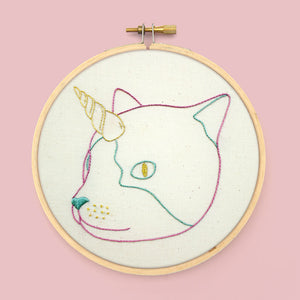 Caticorn PDF Embroidery Pattern