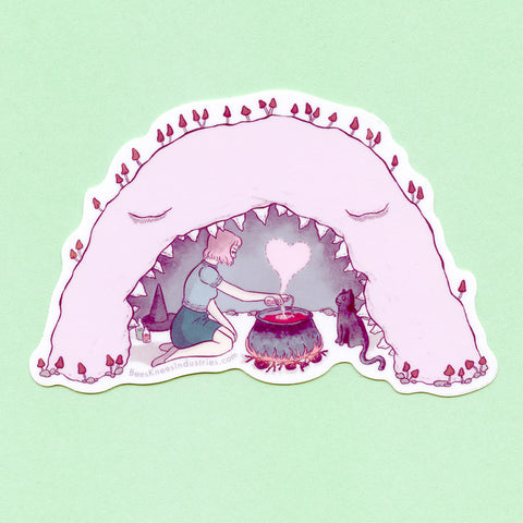 Cave Witch Sticker