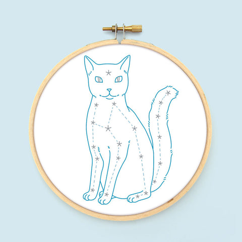 Celestial Cat PDF Embroidery Pattern