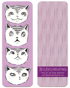 Expressive Cats Bookmark