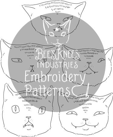 Expressive Cats PDF Embroidery Patterns