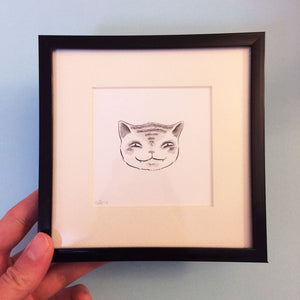 Expressive Cat Original Drawing 1