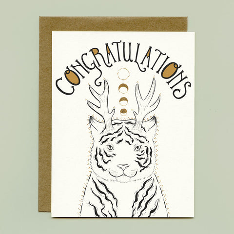 Fantastical Tiger Greeting Card