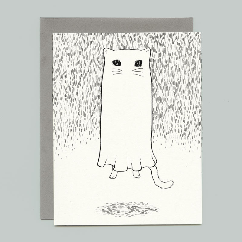 Floating Ghostie Greeting Card