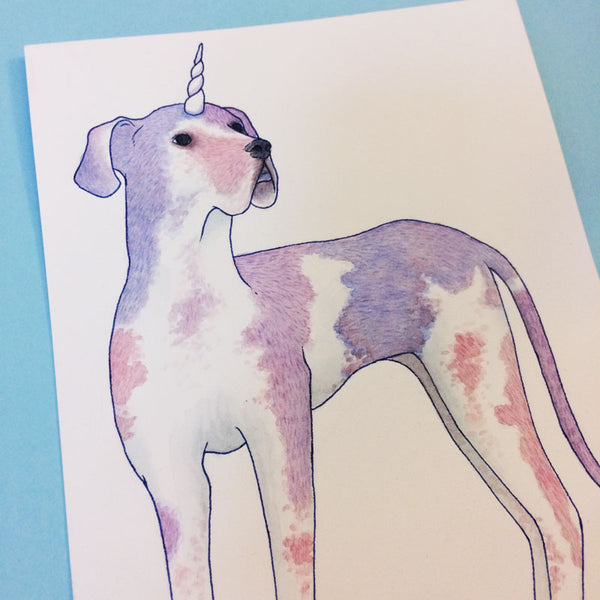 Great Dane Dogicorn Original Painting