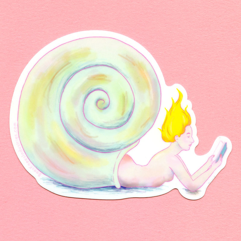 Hermit Crab Mermaid Sticker