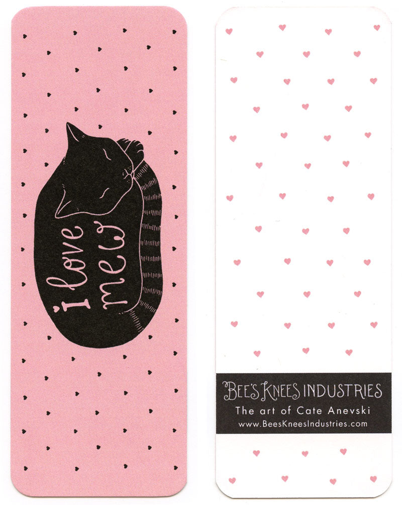 I Love Mew Cat Bookmark