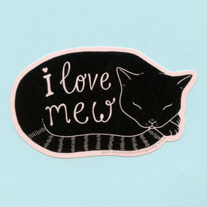 I Love Mew Cat Sticker