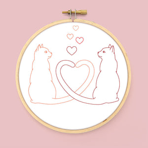 Love Tails Embroidery Pattern