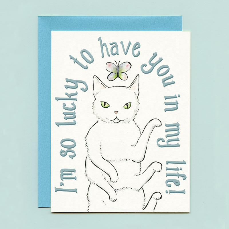Lucky Caterpillar Greeting Card