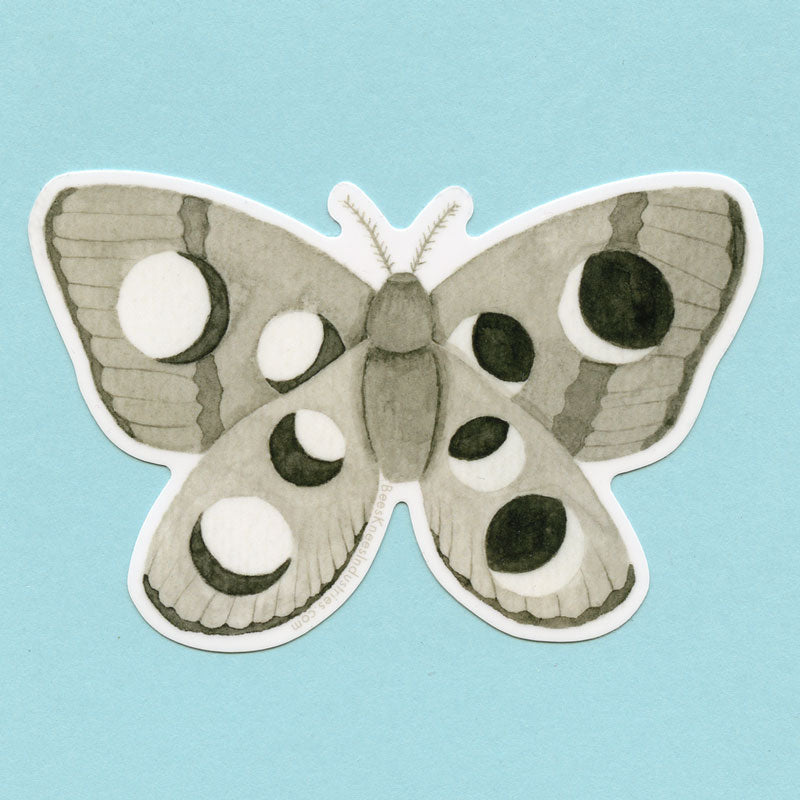 Lunar Moth Sticker