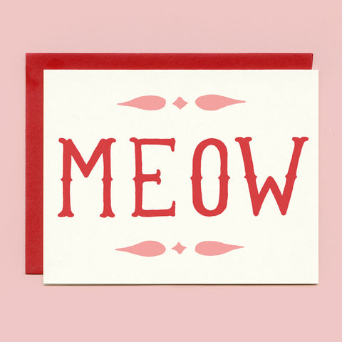 Meow Greeting Card