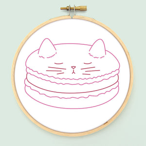 Meowcaron Embroidery Pattern