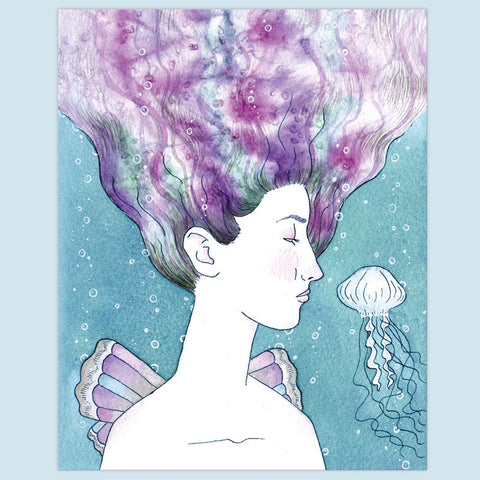 Mermaid Faerie Print