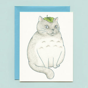 My Neighbor Kitty Cat Greeting Card