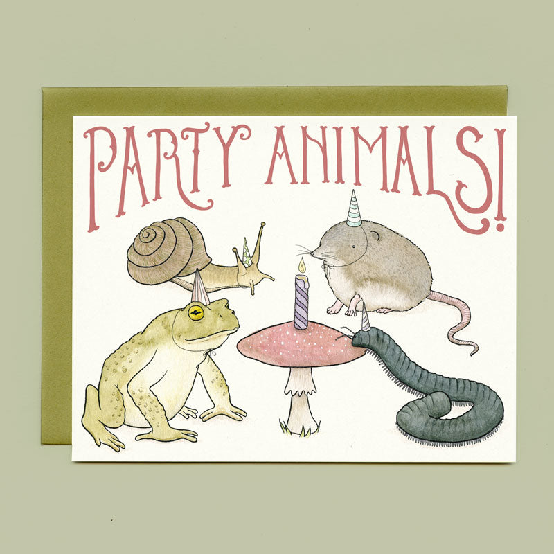 Party Animals Birthday Card