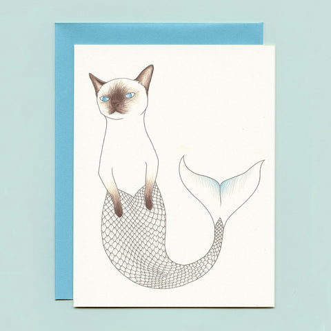 Purrmaid Greeting Card