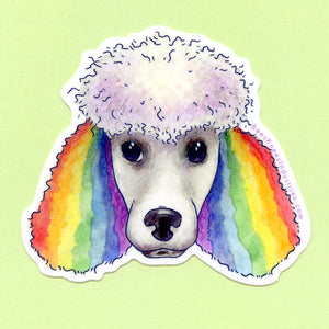 Rainbow Poodle Sticker