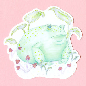 Round Toad Sticker