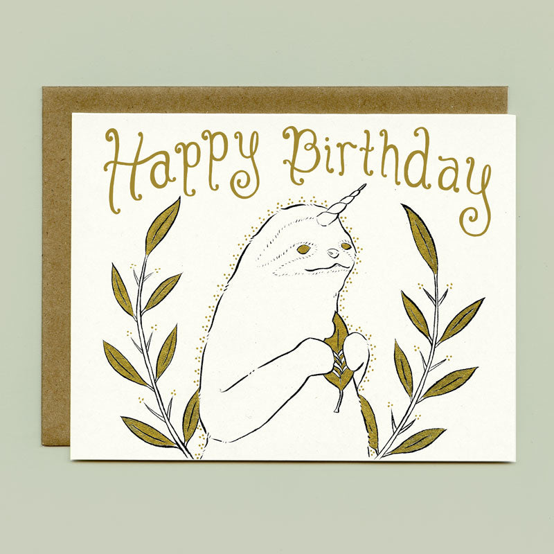Slothicorn Birthday Card