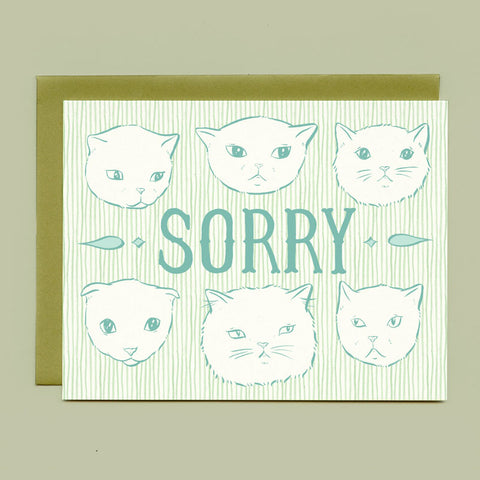 Sorry Cats Sympathy Card