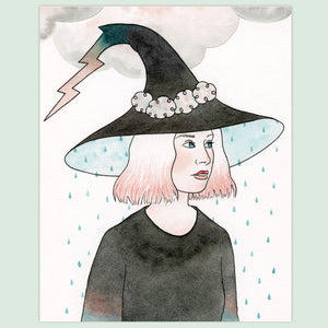 Thunderstorm Witch Print