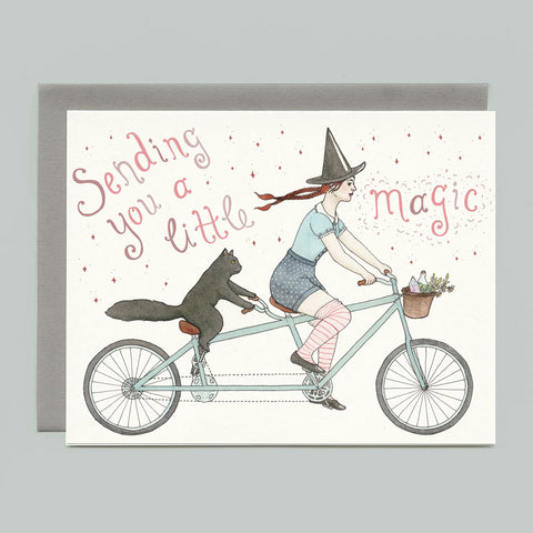 Tandem Witch Greeting Card