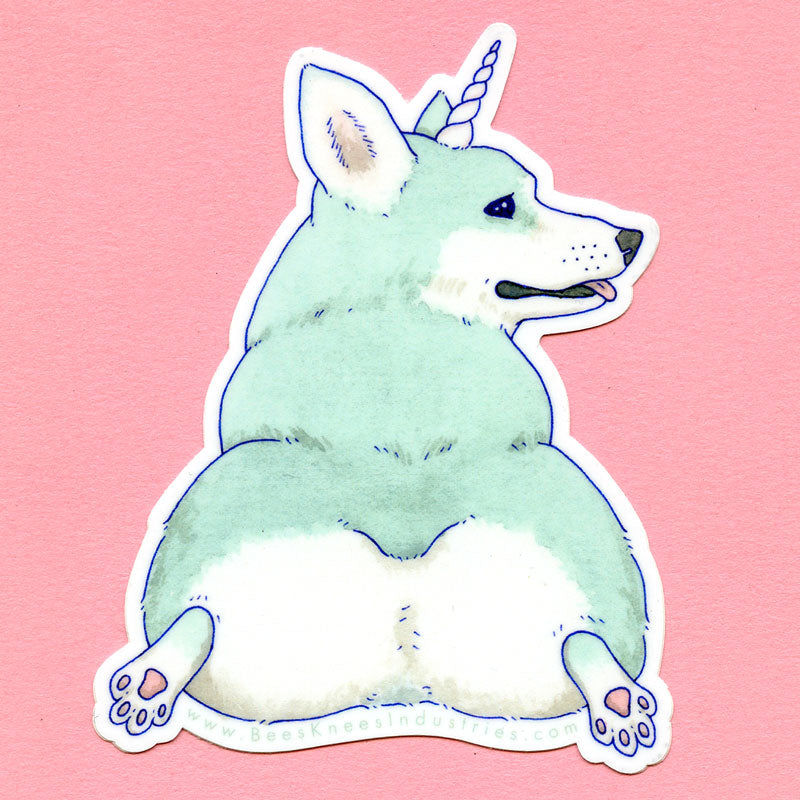 Unicorgi Sticker