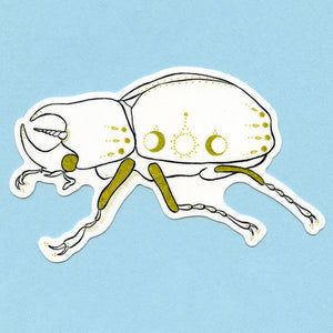 Unicorn Beetle Sticker