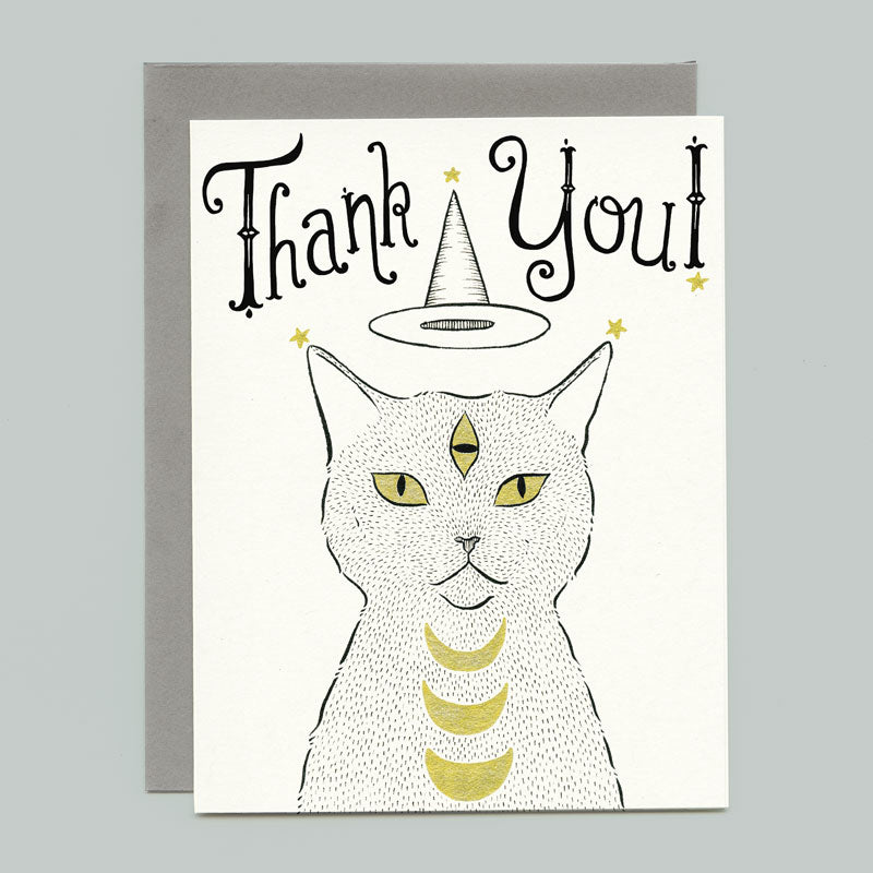 Witch Cat Thank You Card