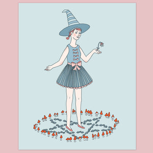 Witch in a Faerie Ring Print
