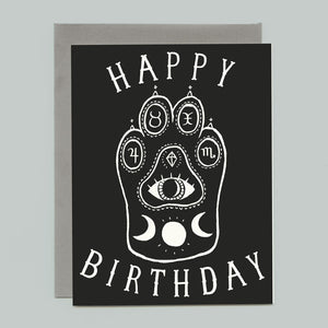 Witchcat Paw Birthday Card